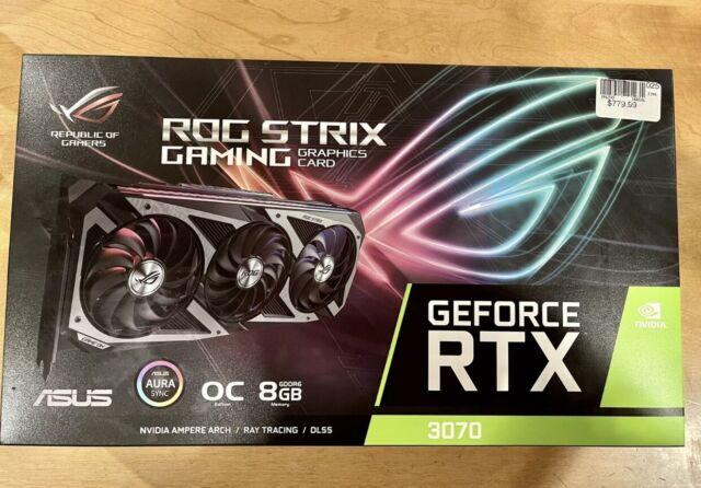 ASUS GeForce RTX 3070 ROG STRIX Graphics Card In Hand