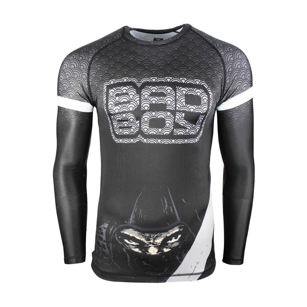 Bad Boy Herren Rashguard Shadow Assassin Schwarz Schwarz Schwarz  54 98 MMA Funktionsshirt deb130