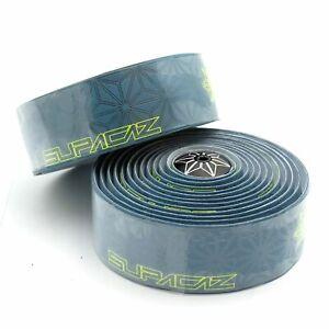 Supacaz-Super-Sticky-Kush-Galaxy-Road-Bike-Handlebar-Bar-Tape-Pair-Neon-Yellow