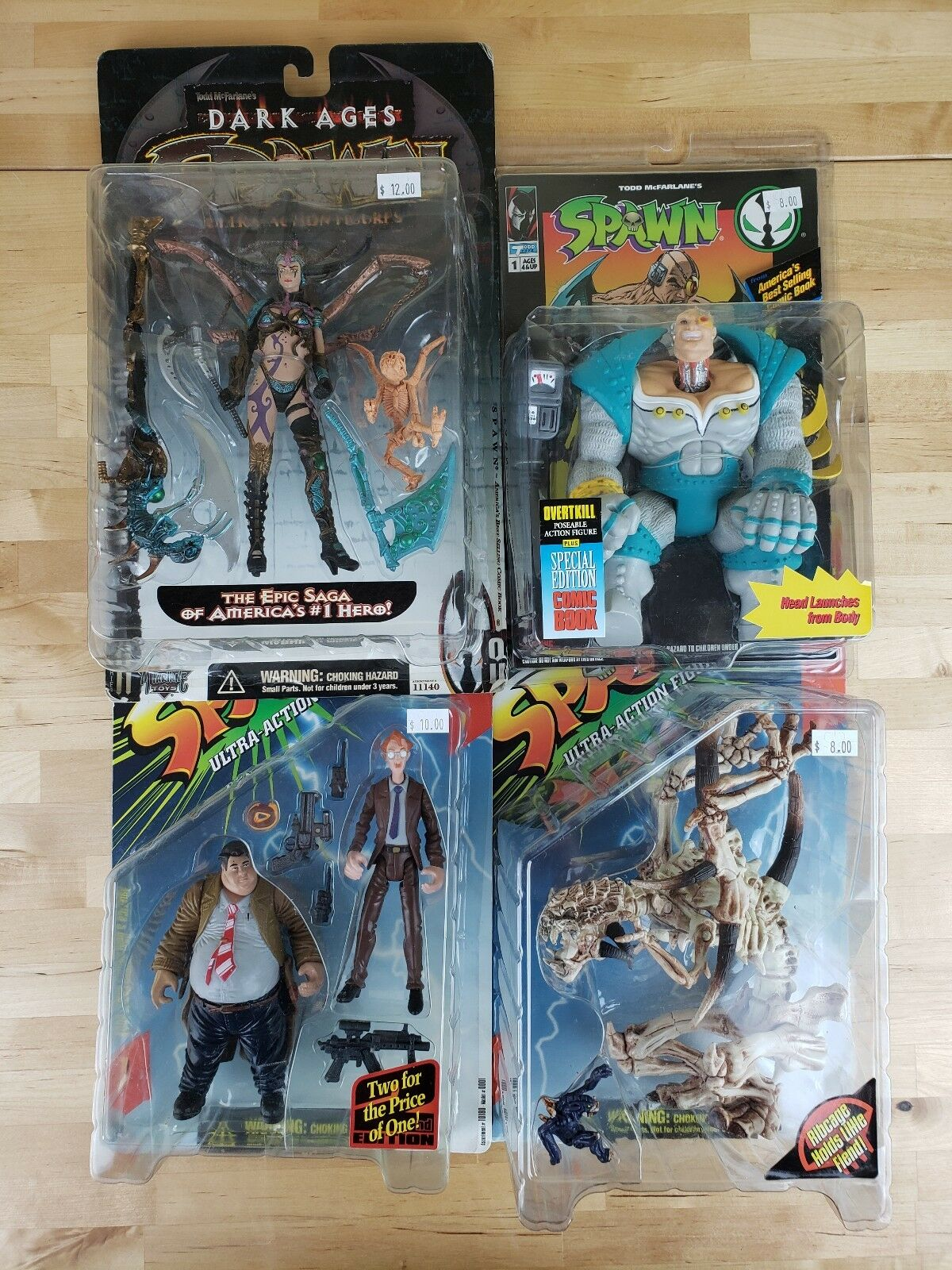 Spawn Action Figures Lot Of 4 Ogreenkill Scourge Skull Queen Sam Twitch New