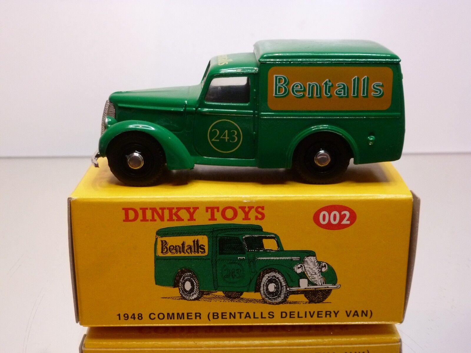 DINKY TOYS CODE 2 002 COMMER 1948 BENTALLS DELIVERY VAN - 1 43 - EXCELLENT IB