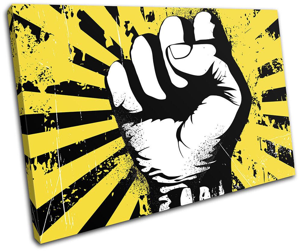 Raised Fist Power Display 0 Illustration SINGLE TELA parete arte foto stampa