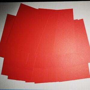 Details about Matte Red Cardstock - A6 - Pack of 20 cards- Buy 2 Get 1 Free
