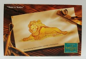 WDCC Disney Post Card Lion King Tribute Series Mufasa and Simba 4 x 6