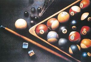 Sala Da Biliardo In Inglese : Poster triangolo cue 74x52 cm camera sala da gioco pool 8 15