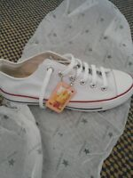 White converse size 4 brand new