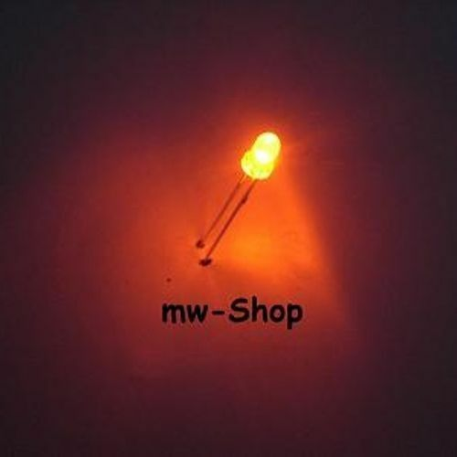 50 unidades Orange LEDs 3mm 4800mcd 2,0-2,2v 20ma lesotho arancione oransje naranja