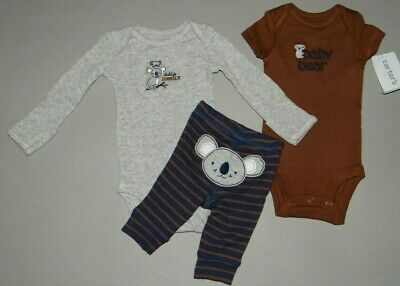 Child Of Mine Carter/'s 3 piece Baby Boy Footed Pants Newborn,0-3 3-6 Month NWT