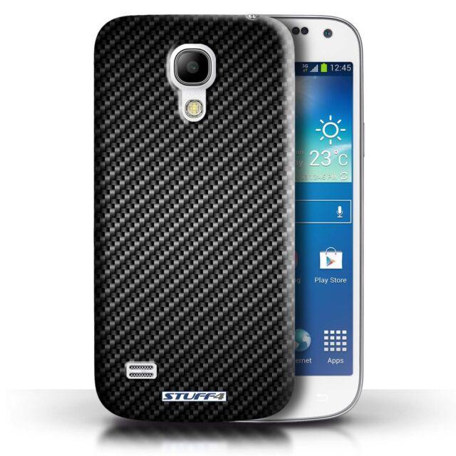 STUFF4 Case/Cover for Samsung Galaxy S4 Mini/Carbon Fibre Effect/Pattern/Grey