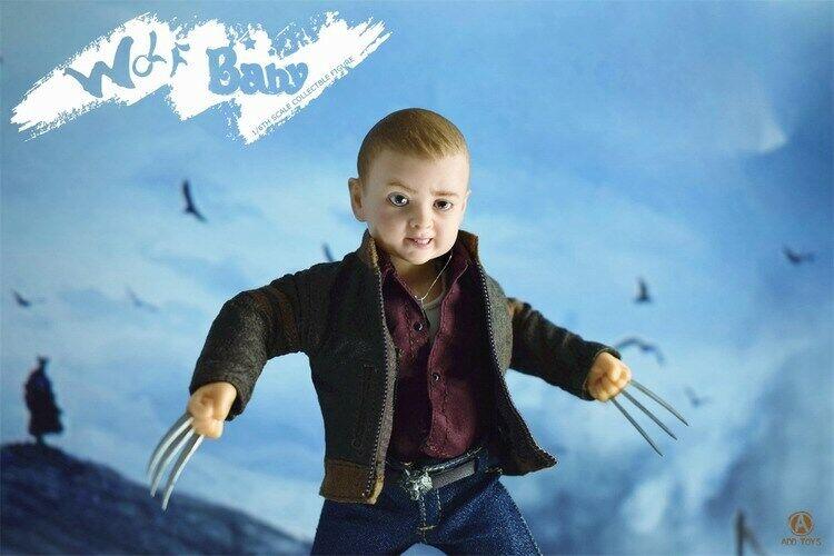 ADD giocattoli 16th Wolverine Hero bambino Series Wolf bambino AD04 6in Mini azione cifra