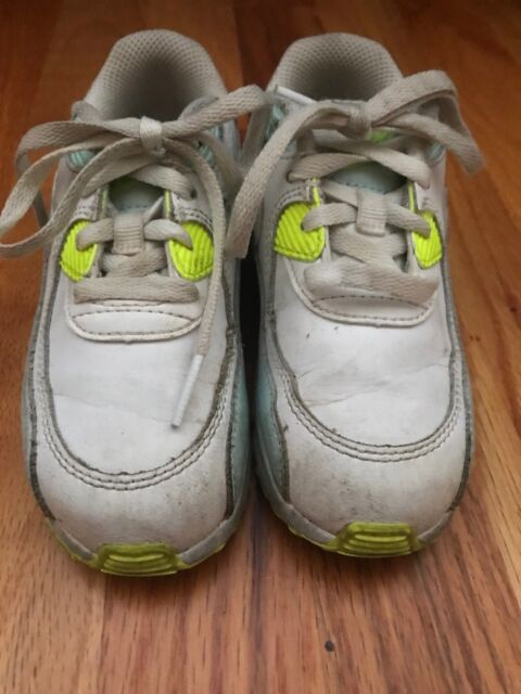 san francisco 5d388 927c2 Toddler Baby Nike Air Max Sneakers, White Glacier Blue Volt EUC Size 9C