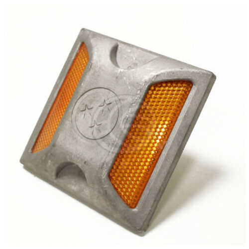 Riflettore Catarifrangente stradale in alluminio calpestabile da veicoli