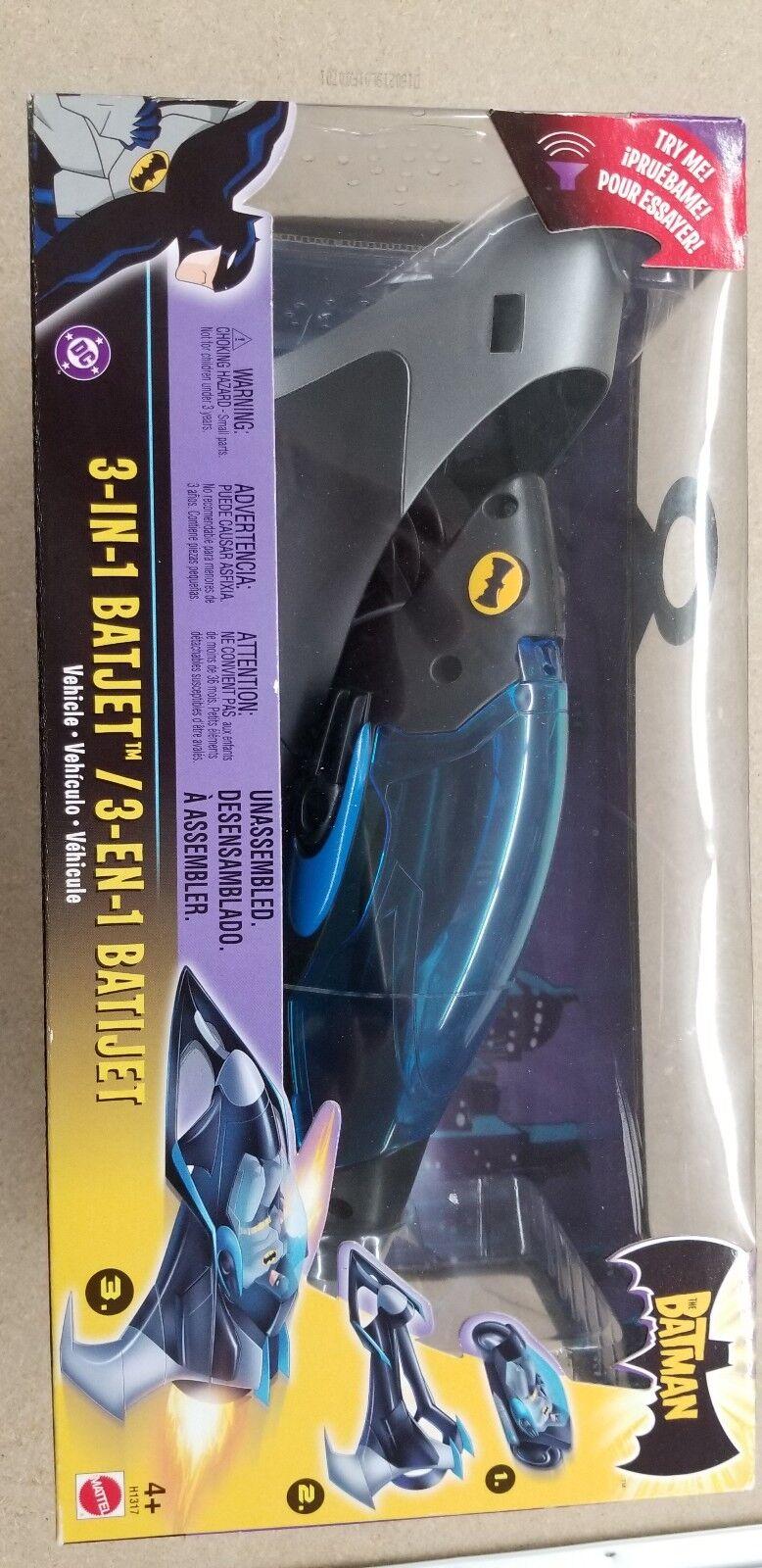 Batman WB Animated Series Vehicle Deluxe 3-In-1 Batjet Batplane Mattel H1317