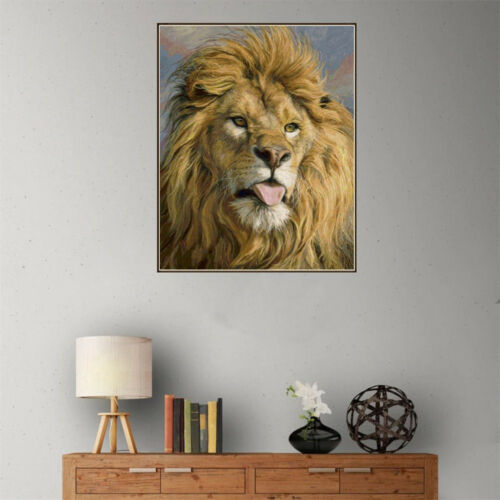 1set DIY 5D Diamond Painting full drill lion animals Embroidered Cross Stitch UK