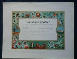NOUVELLE-COMPAGNIE-HAVRAISE-PENINSULAIRE-NCHP-CERTIFICAT-BAPTEME-LIGNE-EQUATEUR