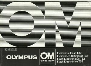 Olympus-T32-Flash-Genuine-Instruction-Book-User-Manual-Guide-Instructions