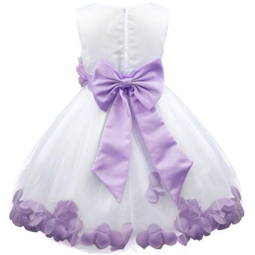 Flower Girls Tutu Dress Princess Junior Bridesmaid Wedding Party Birthday Gowns