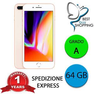 IPHONE 8 PLUS RICONDIZIONATO GRADO A 64 GB GOLD ORIGINALE APPLE GARANZIA