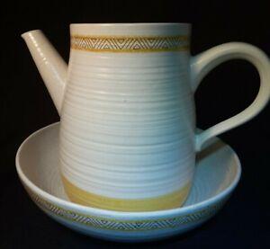 "Vintage Franciscan Earthenware HACIENDA GOLD Vegetable Bowl 9"" & Coffee Pot USA"