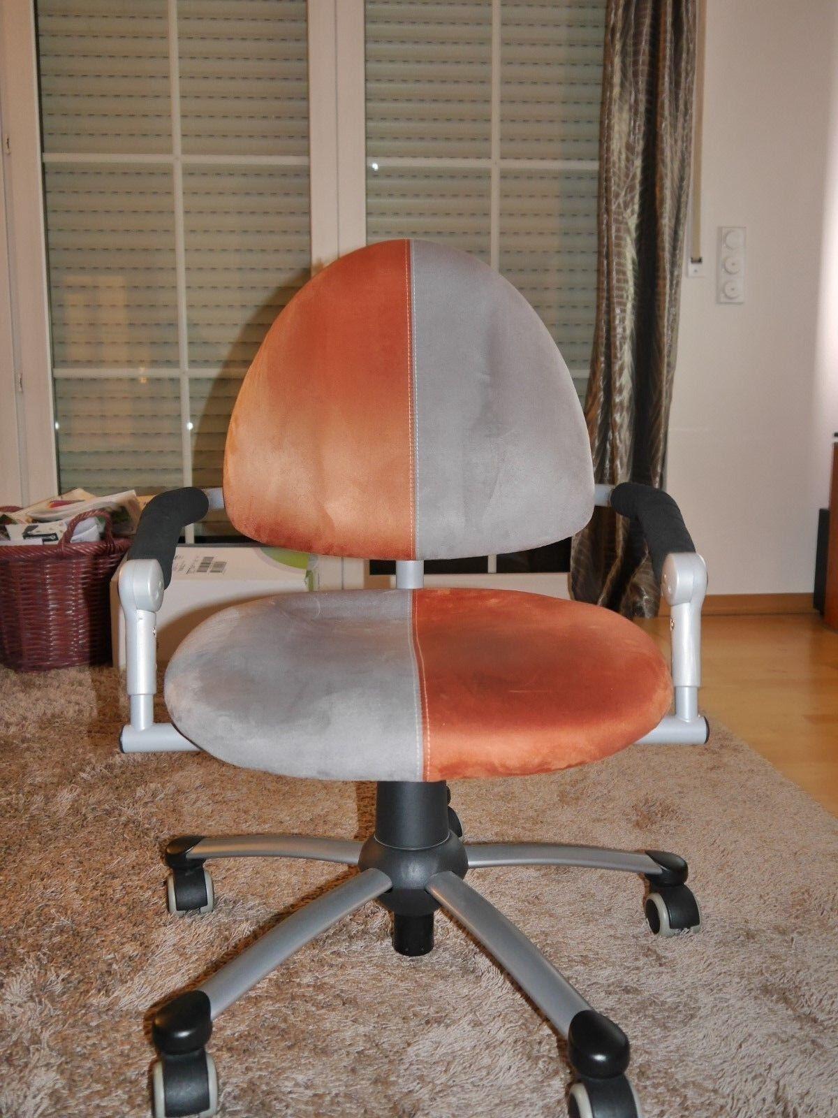 Schreibtischstuhl Bürostuhl Jugendstuhl Jugendstuhl Jugendstuhl Drehstuhl grau-terracotta drehbar ffbfc9