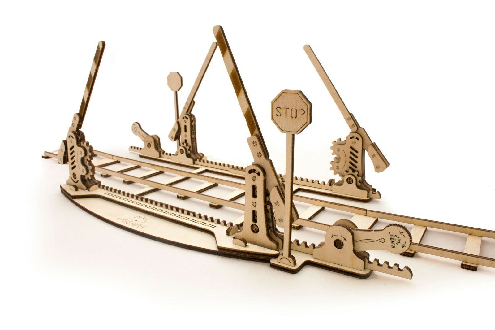 UGears Rails with Crossing mechanical wooden model KIT 3D puzzle Assembly