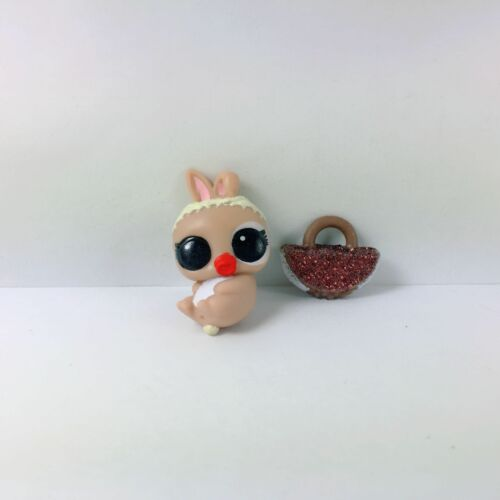Rare LOL Surprise BIGGIE PETS RUNT DOLL MC HIPPITY HOP BUNNY Glitter Tan Bag