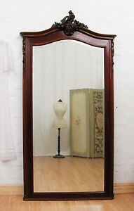 ENORMOUS-ANTIQUE-FRENCH-MAHOGANY-DRESSING-MIRROR-C1920