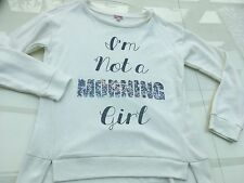 100% Authentic Juicy Couture I Am Not A Morning Girl Cream Sweatshirt Size L