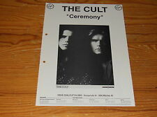 THE CULT - CEREMONY / VIRGIN PROMO-FACT (DINA-4) 1991