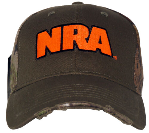 Authentic NRA Zeroed In Embroidered Logo Adjustable Fit Hat Cap NEW