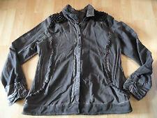 BOTTEGA Cavaletti schöne Jerseyjacke braun eingefärbt Gr. XXL w. NEU BI516