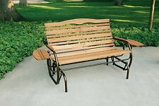 Wooden Porch Glider Bench Seat 2 Person Rocker Patio Garden Wide Chair Outdoor