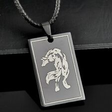 COOL man boy Stainless Steel Wolf Pendant Necklace ST01
