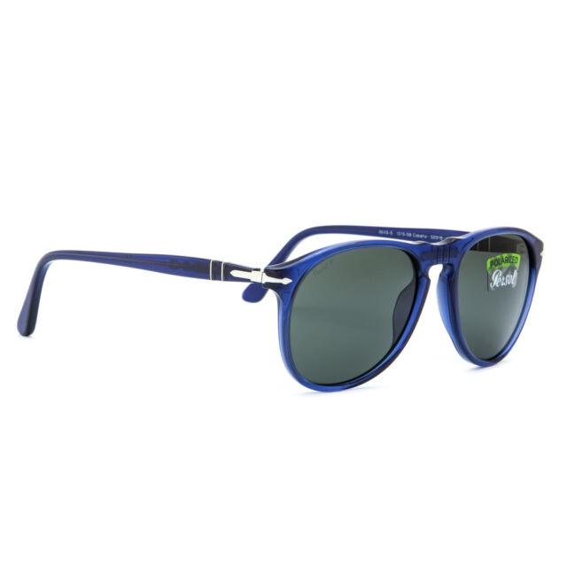 27703cddcf Persol PO9649S Aviator Sunglasses 1015 58 Cobalto Blue   Green Polarized  9649 52