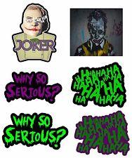Joker Hahaha Serious Super Bad Evil Vinyl Decal Sticker Pack Lot Of 6 Stickers