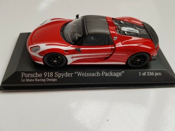 1 43 Minichamps Porsche 918 Spyder Weissach-package 2015 le mans racing Design.