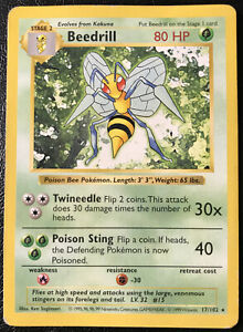 Pokemon Base Set Rare Card #17//102 Beedril