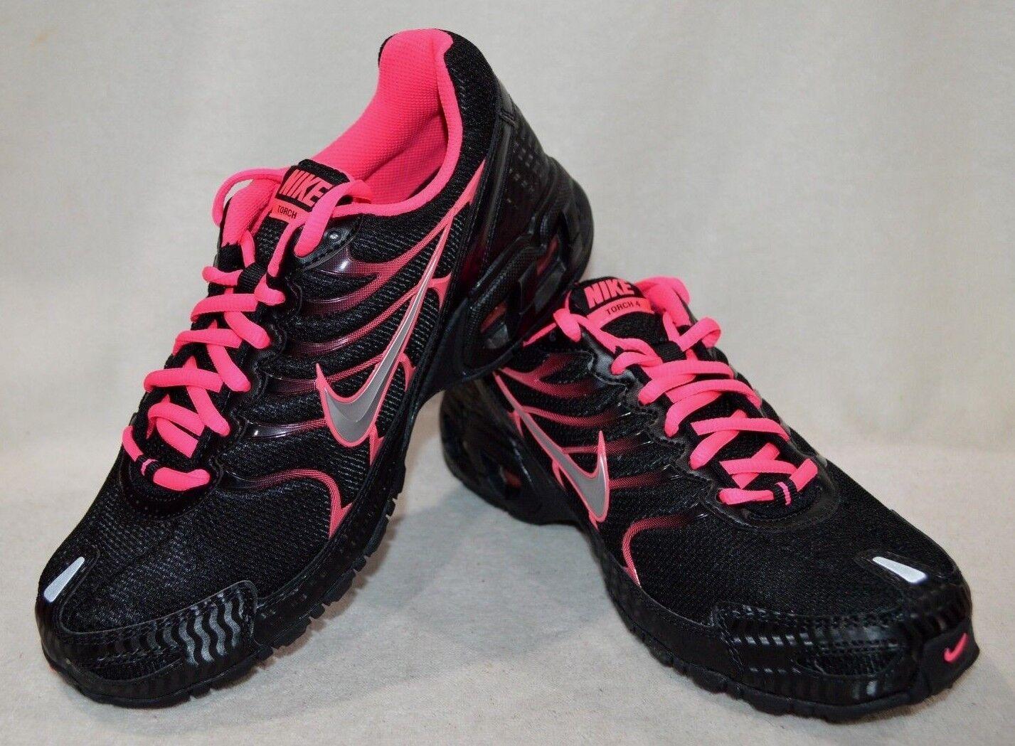 1e4daeee52 Nike Air Max Torch 4 Womens 343851-006 Black Pink Flash Running ...