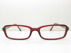ad374d19114d Image is loading Prada-EYEGLASSES-FRAMES-52-17-135-Red-Rectangle-
