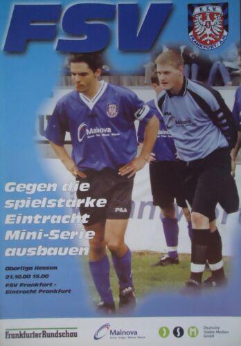 Programm 2000//01 FSV Frankfurt Eintracht Frankfurt Am.
