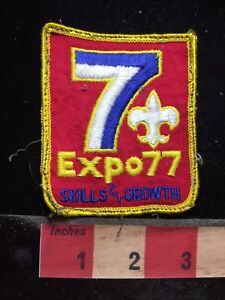 Vtg-1977-Skills-amp-Growth-EXPO-77-BSA-Boy-Scout-Patch-77E2