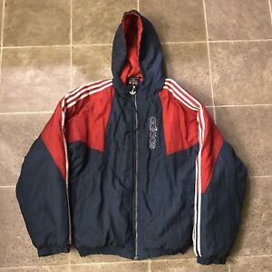 Jacket Hooded Adidas Trefoil Vintage Adult Stripes Coat 3 Puffer 90s wXx0TqAU