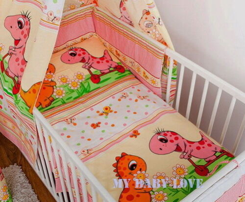 135x100cm 5 pcs BABY BEDDING SET//BUMPER// DUVET COVER to  fit COT or COT BED