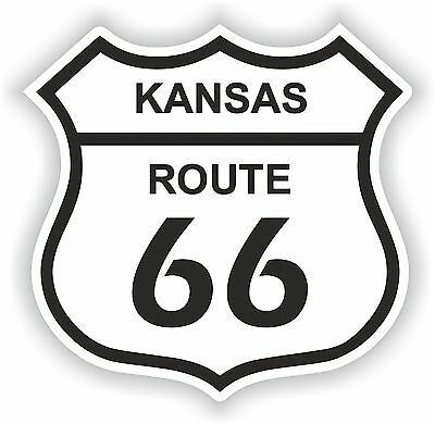 #66 Historic Route 66 Sticker Highway US American Road Bumper No66 Truck Laptop
