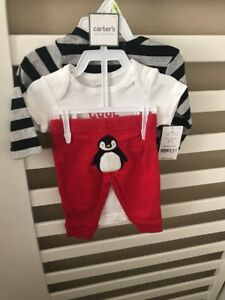 Carter-039-s-NWT-3-months-Baby-Boy-3pc-LITTLE-DUDE-Bodysuit-Pant-Set