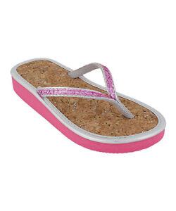 4af0c7ba47 Image is loading Capelli-Cork-Flip-Flops-Sandals-Thongs-Shoes-Glitter-