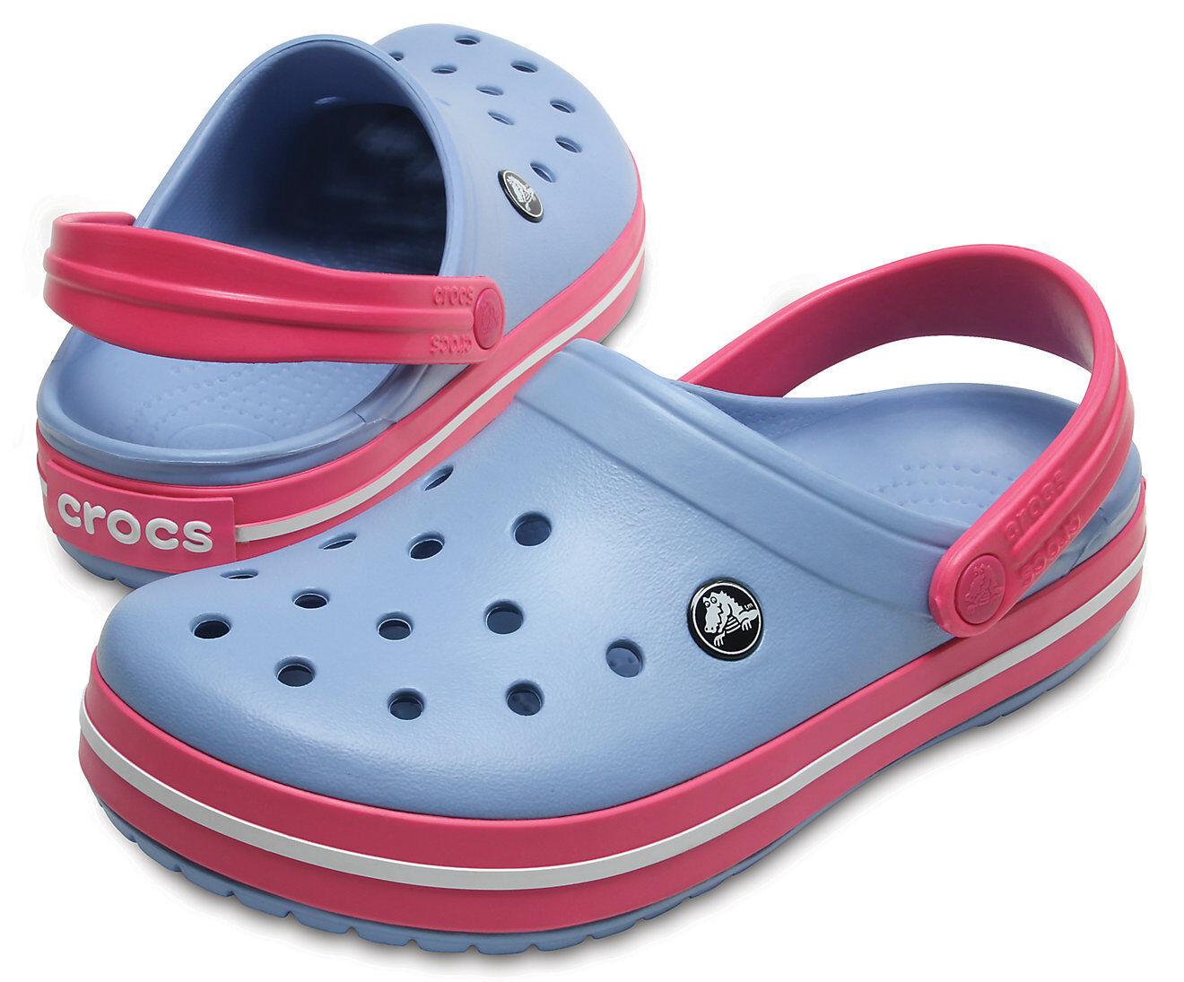 Crocs Crocband Zapatillas Mujer - Celeste Fucsia Fucsia Fucsia - 11016  Con precio barato para obtener la mejor marca.