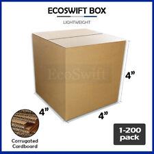 1 200 4x4x4 Ecoswift Cardboard Packing Mailing Shipping Corrugated Box Cartons