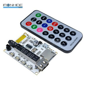 Wireless-Bluetooth-MP3-FM-Decoder-Board-Audio-Remote-Module-USB-TF-Radio-For-Car