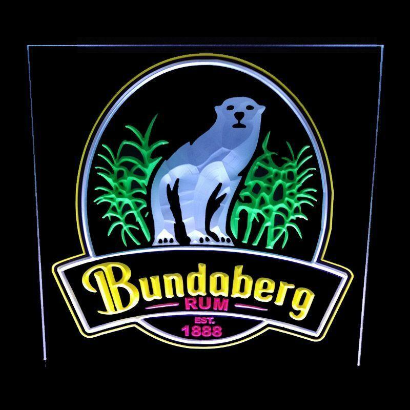 BUNDABERG RUM - ACRYLIC LED SIGN